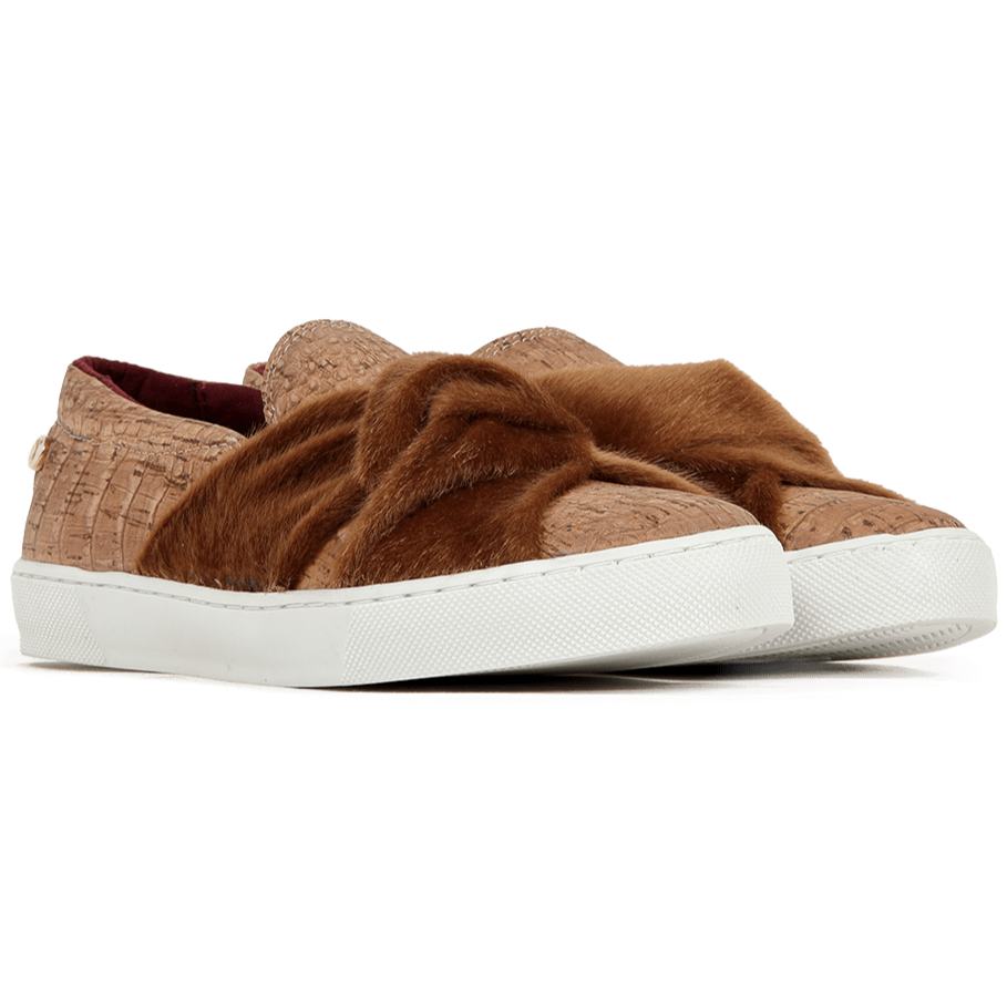 RUTZ Sneakers Vegan Slip On | Croco Natural sustainable fashion ethical fashion