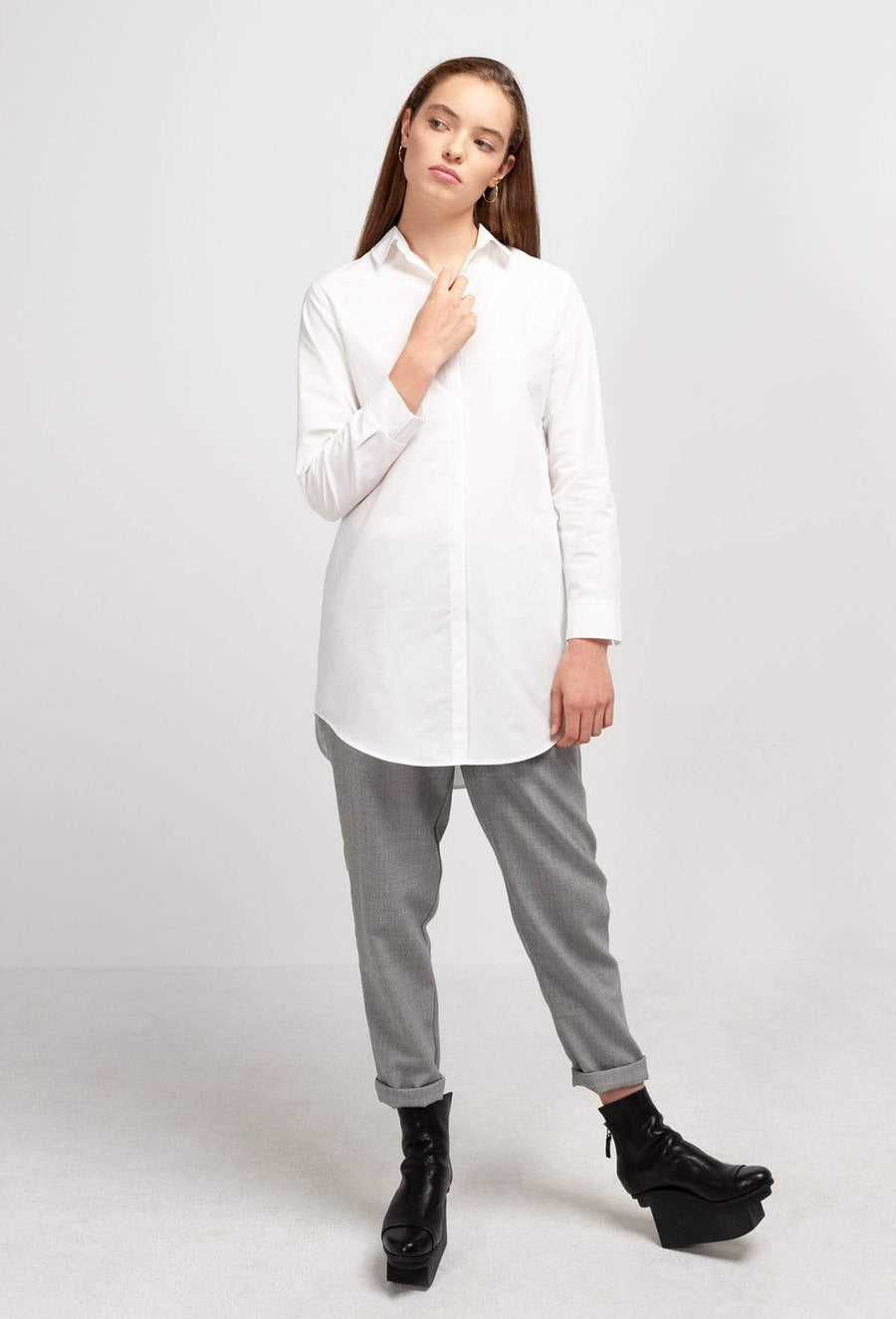 SHIPSHEIP top Joan Long Blouse. Organic Cotton. sustainable fashion ethical fashion