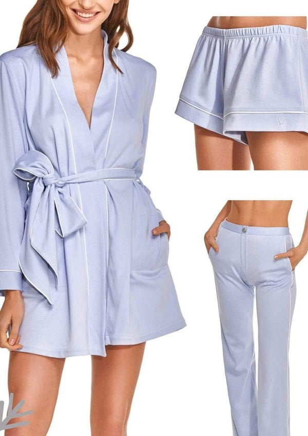 Slow Nature® Essentials Sleep & Loungewear Loungewear Set: Robe, Pants, Shorts sustainable fashion ethical fashion