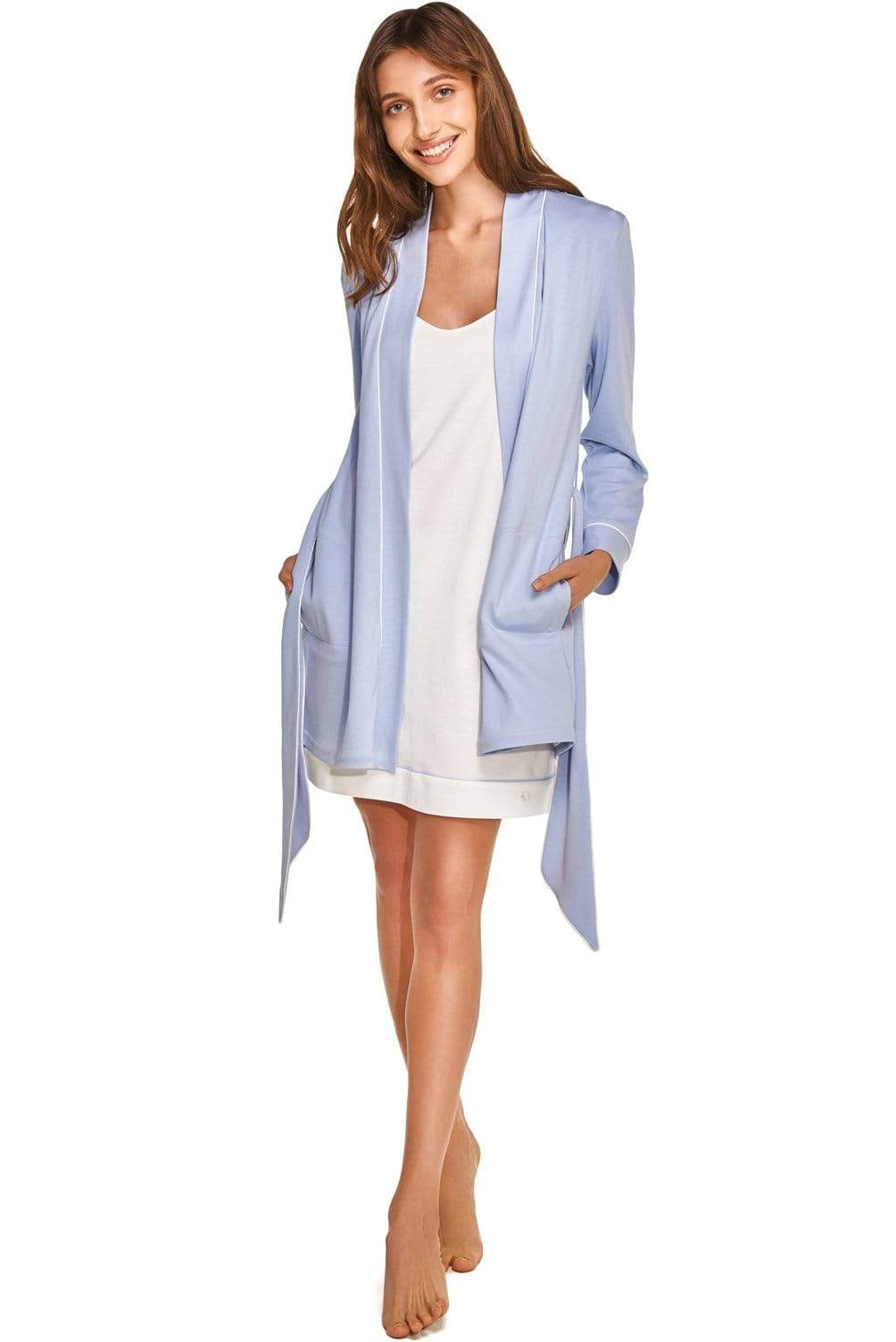 Robe de nuit Slow Nature® Essentials Sleep & Loungewear. Coton organique. mode durable mode éthique