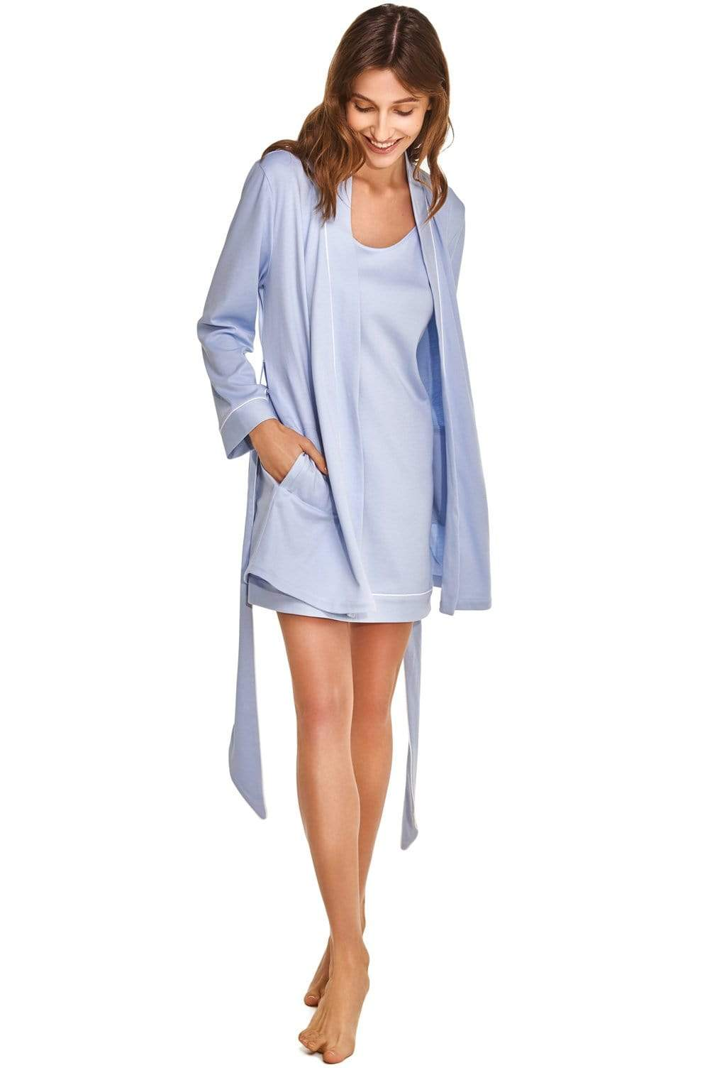 Peignoir Slow Nature® Essentials Sleep & Loungewear en coton biologique. mode durable mode éthique