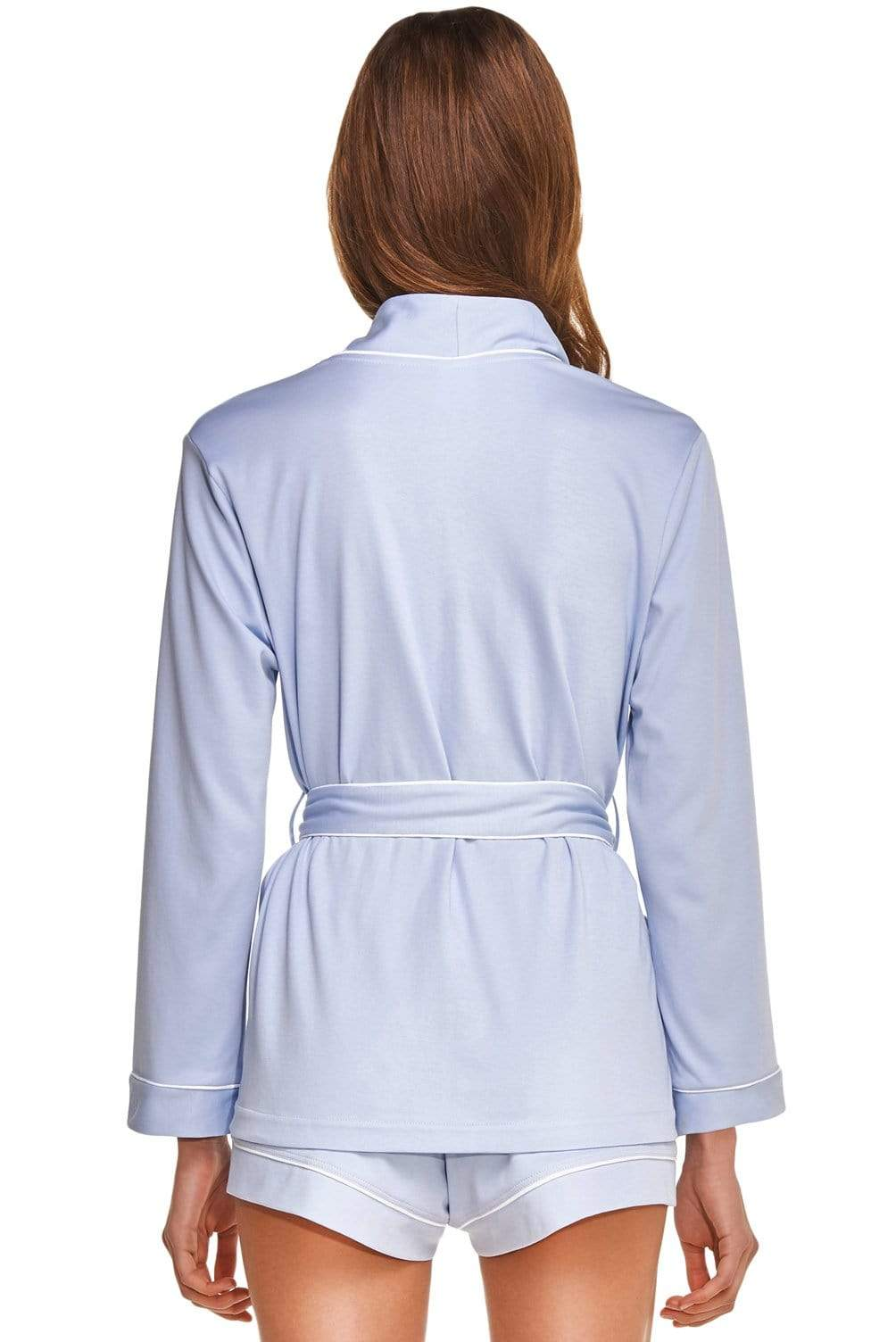Slow Nature® Essentials Sleep & Loungewear Wrap SHIRT. Organic Cotton. sustainable fashion ethical fashion