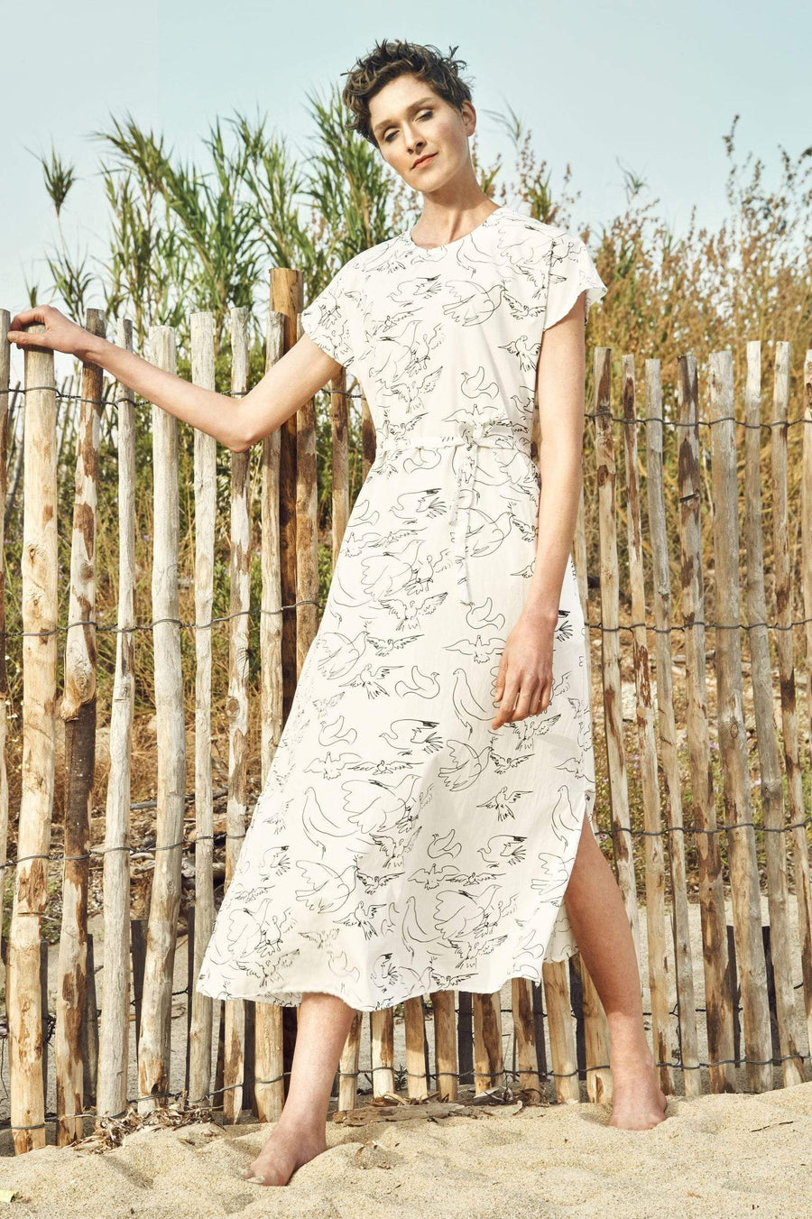 Sophia Schneider-Esleben dresses Nina Dress in Organic Cotton. sustainable fashion ethical fashion