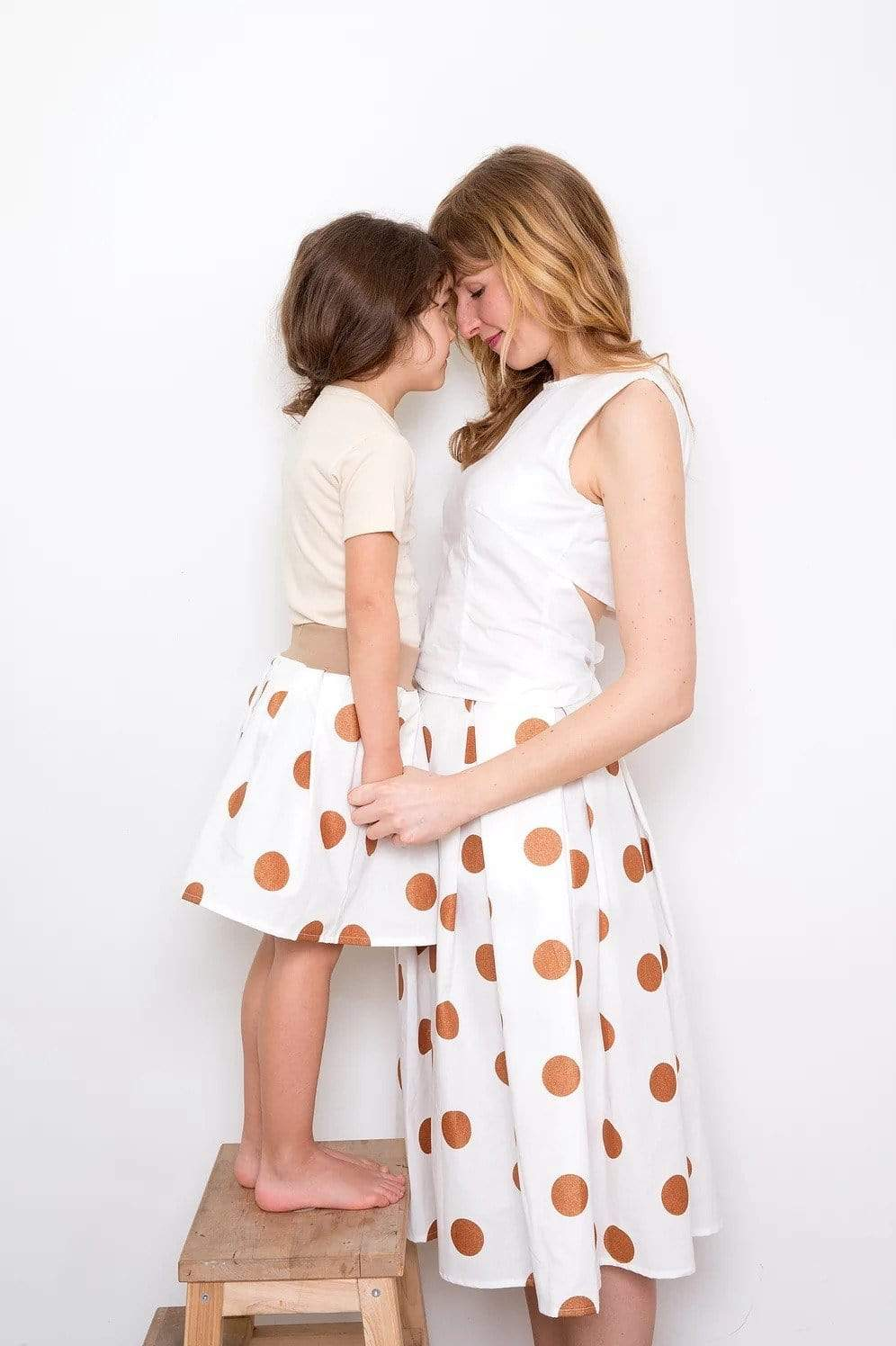 Sophia Schneider-Esleben skirt Kupfer Liebe Skirt in Organic Cotton. sustainable fashion ethical fashion