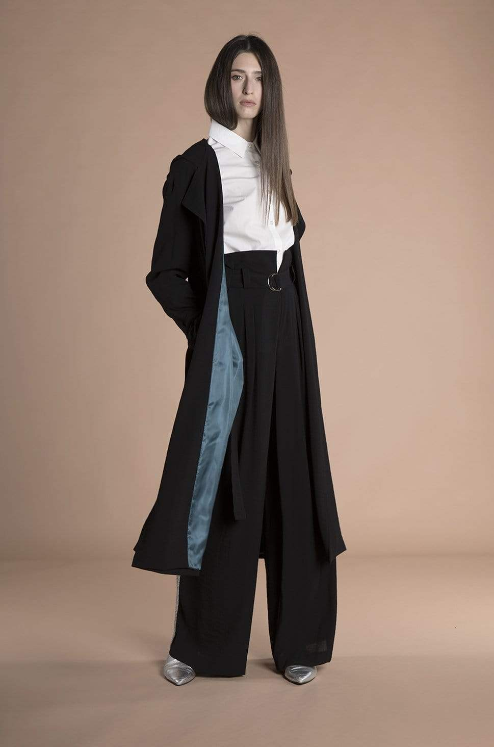 Souldaze Collection coat Eva Trench Coat. Surplus Wool. sustainable fashion ethical fashion