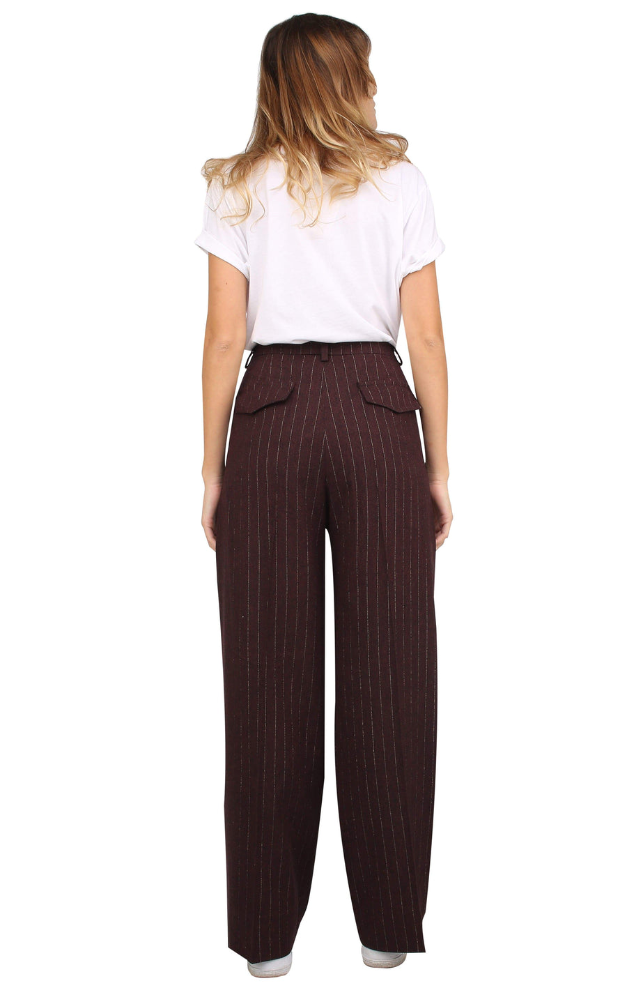 Souldaze Collection pant Isabel Pants. Surplus Wool. sustainable fashion ethical fashion
