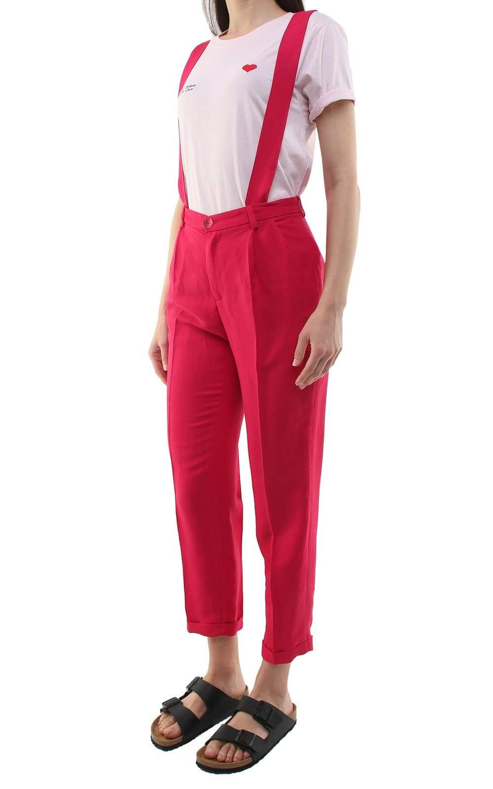 Souldaze Collection pant Jane Trousers with Removable Suspenders. Linen and Surplus Viscose. sustainable fashion ethical fashion