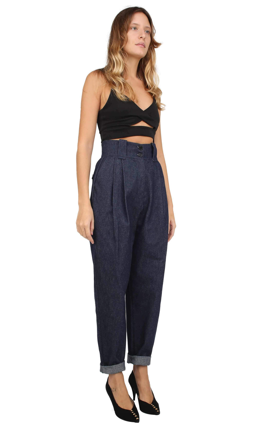 Souldaze Collection Pants & shorts Gilda pants in denim sustainable fashion ethical fashion