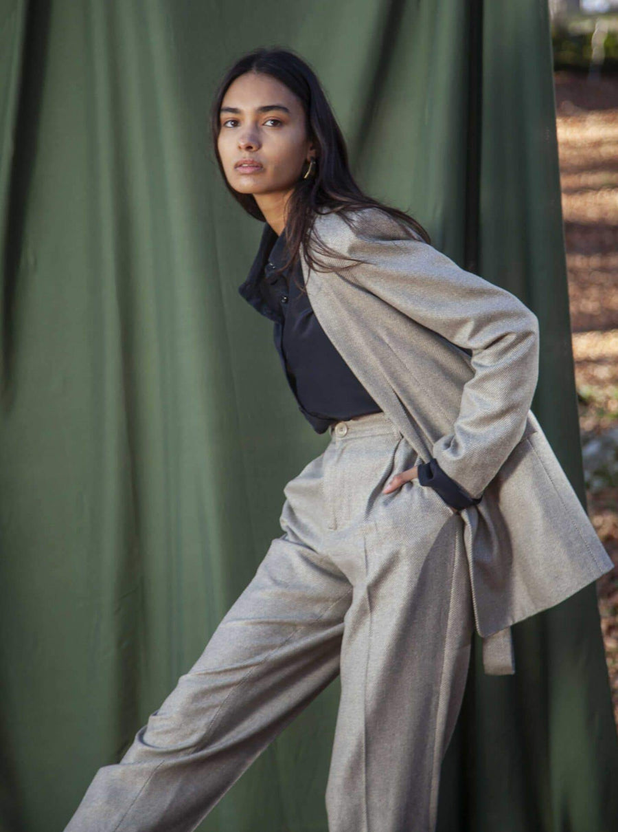 Souldaze Collection Pants & shorts Jane trousers silk and wool sustainable fashion ethical fashion