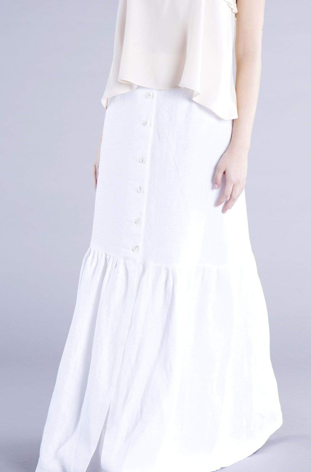 Souldaze Collection skirt Bonita Skirt. Surplus Linen. sustainable fashion ethical fashion
