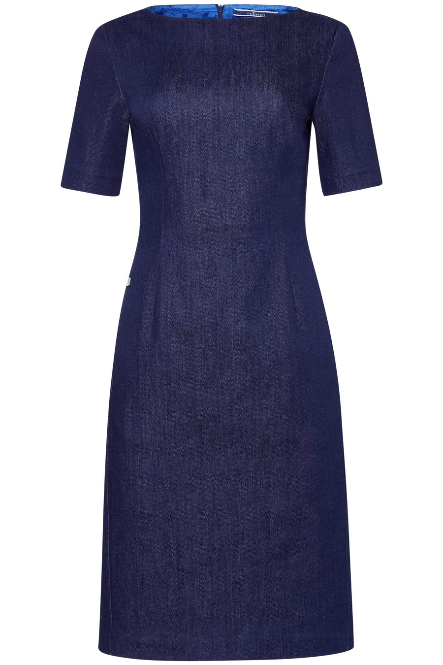 the Blue suit dress VICTORIA Dress. Organic Cotton. sustainable fashion ethical fashion