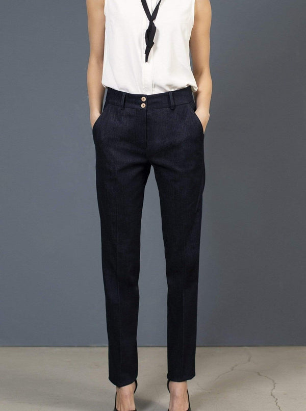 the Blue suit pant EVE Pants. Organic Cotton. sustainable fashion ethical fashion