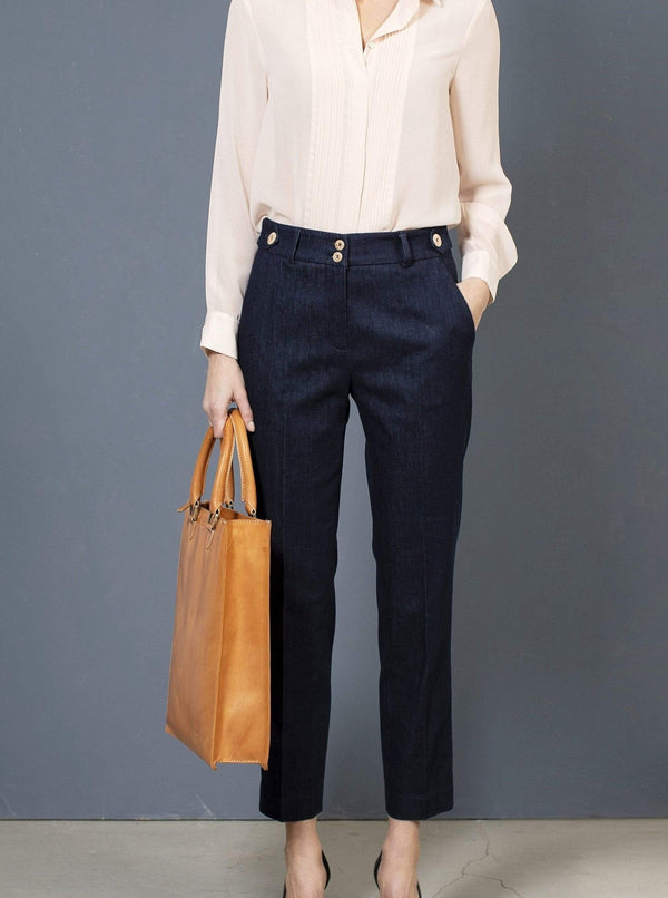 the Blue suit pant JODI Pants. Organic Cotton. sustainable fashion ethical fashion