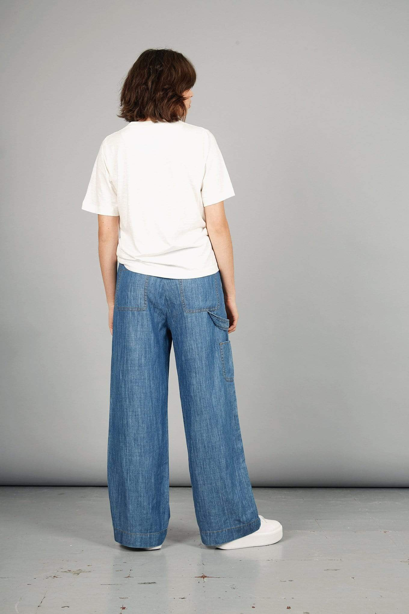 The Yakit Rakit Ltd pants DROVER Trousers in Tencel and Linen. sustainable fashion ethical fashion