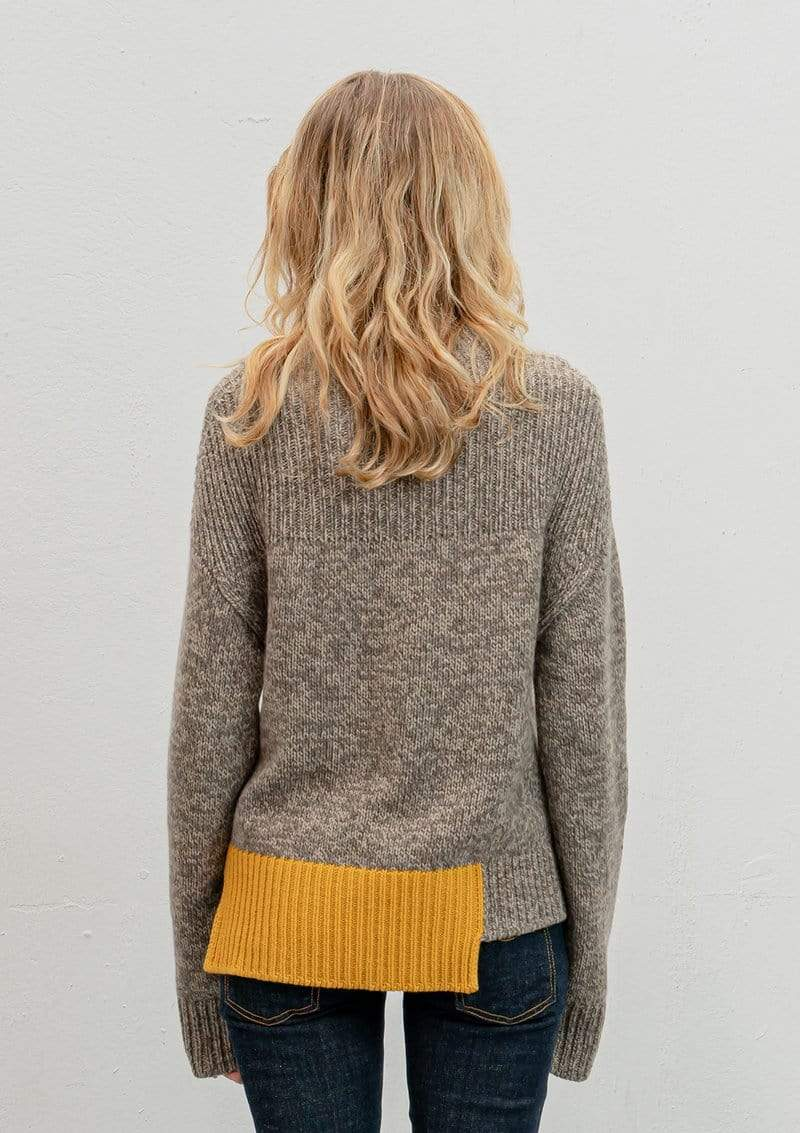 Vitos SAS Sweater Funnel Neck Sweater in Organic Cotton sustainable fashion ethical fashion