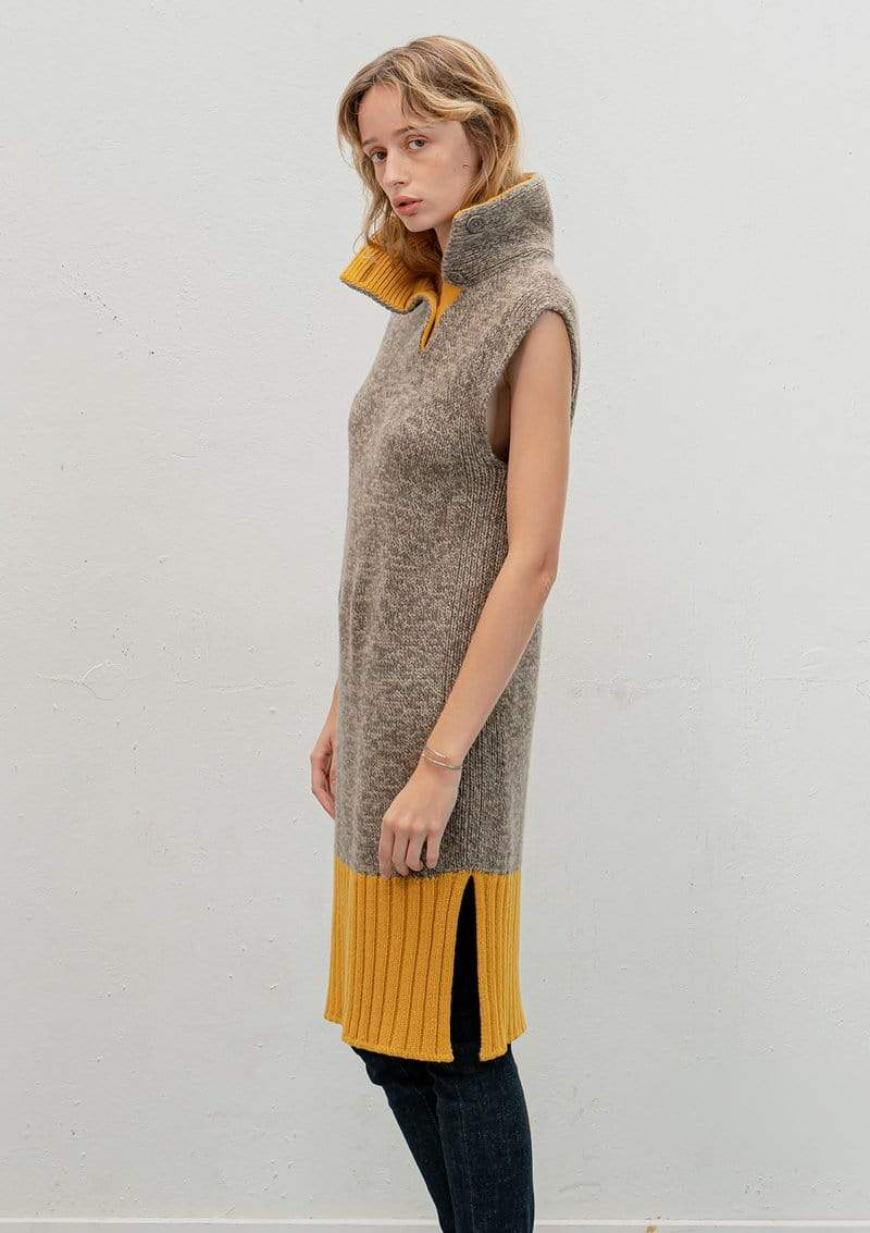 Vitos SAS Sweater Sleeveless Dress-sweater in Organic Cotton sustainable fashion ethical fashion