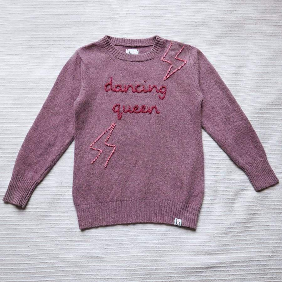 Vitos SAS sweaters 6Y / heather pink Children's Sweater 'LIGHTNING' in Regenerated Cashmere. sustainable fashion ethical fashion