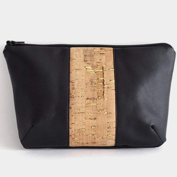 WWoW Maroquinerie Vegan Trousse Diana Noir & Liège - Back in stock ! sustainable fashion ethical fashion