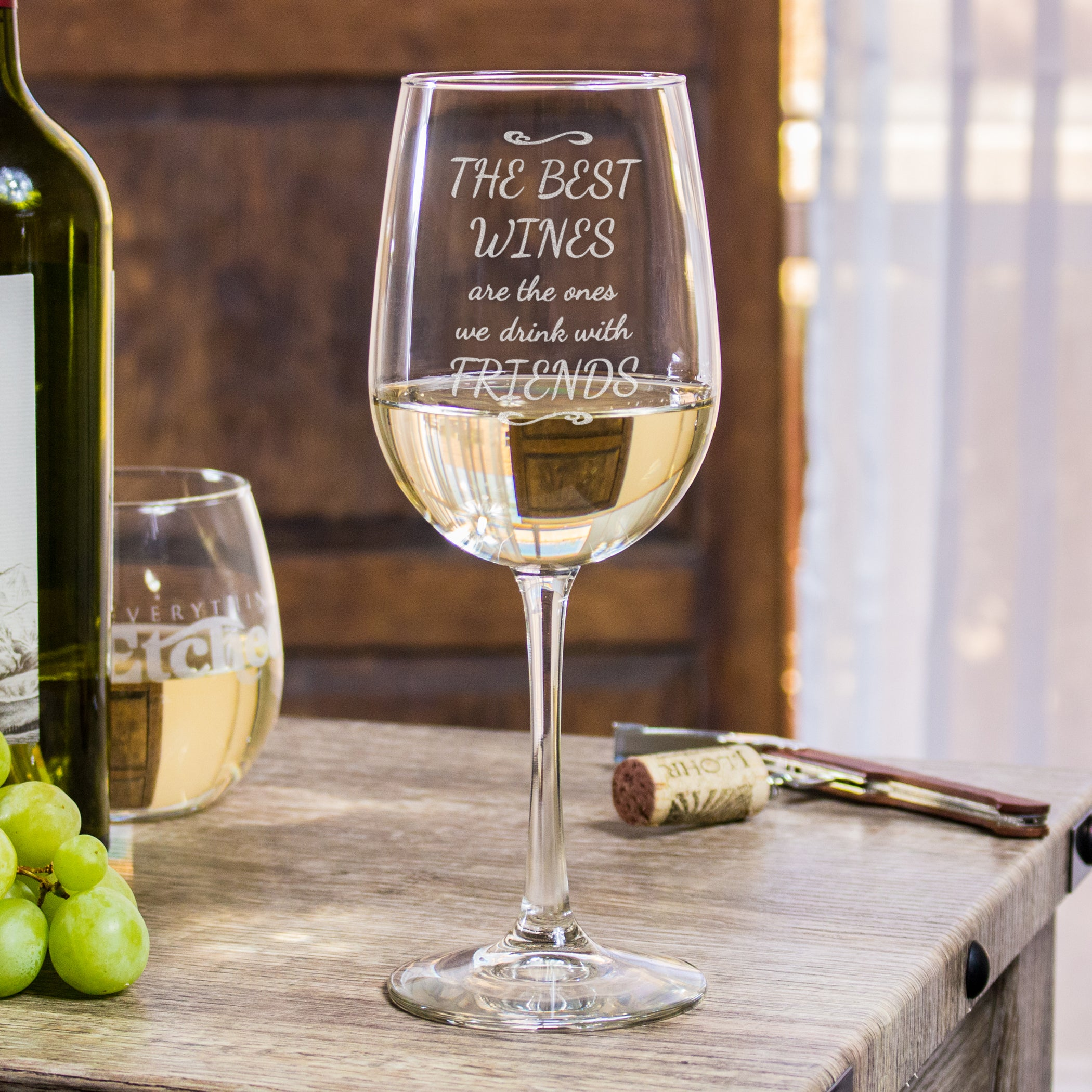 53c243d8ba0 The Best Wines are the Ones we Share with Friends - Funny Wine Glass Large  18 ...
