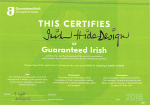 Irish Hide Designs - Guaranteed Irish