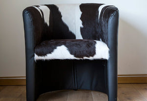 Loop Head Tub Armchair | Black & White