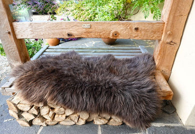 Unique Sheepskin Rug | Brown