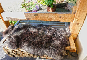 large sheepskin rug grey