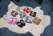Irish sheepskin baby booties