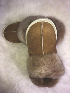cosy sheepskin slippers