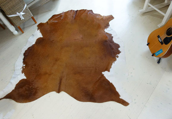 No. 7 brown and white cowhide