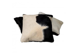 Black & White Cowhide Square Cushion (limited availability)