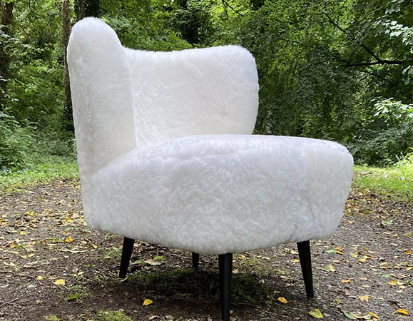 luxury Irish sheepskin chair