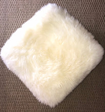 'Keel Bay' Natural White Square Pouffe