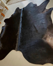 'Rathlin Island' Natural Black Cowhide