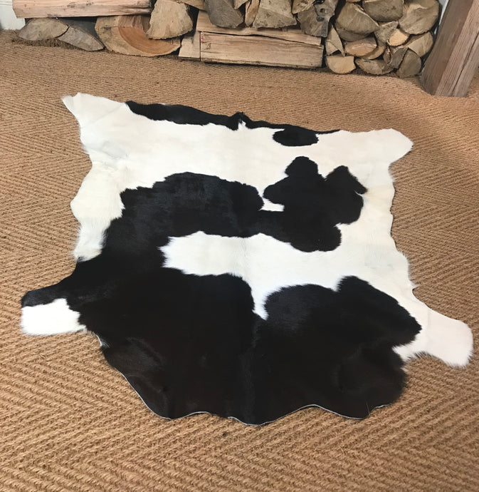 Small Cowhide/ Calfskin Rug - Unique Hide #5