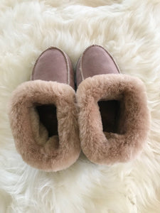Beige Sheepskin Slippers