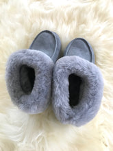 Grey Sheepskin Slippers
