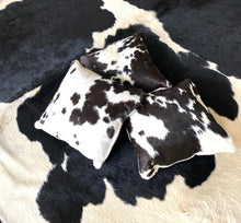 Cowhide Square Cushion - Black and White