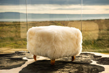 'Keel Bay' Natural White Square Stool