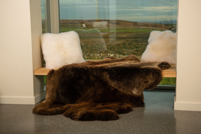 Quad Sheepskin Rug Natural Brown