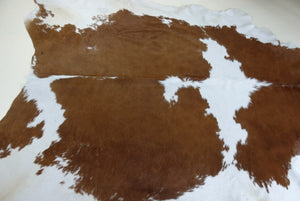 Cowhide Rug no 51 Reddish Brown and Cream large hide