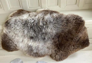 'Mary' Brown Grey Sheepskin Rug