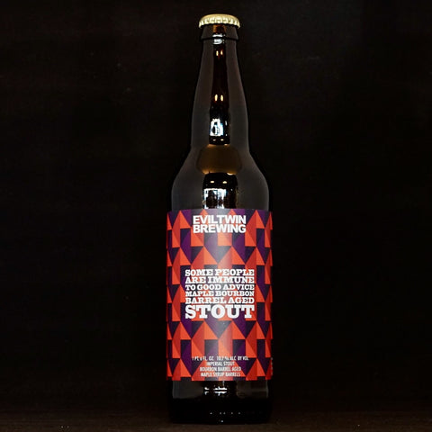 Evil Twin - Some People Are Immune To Good Advice Maple Bourbon Barrel Aged - 10.7% (650ml)