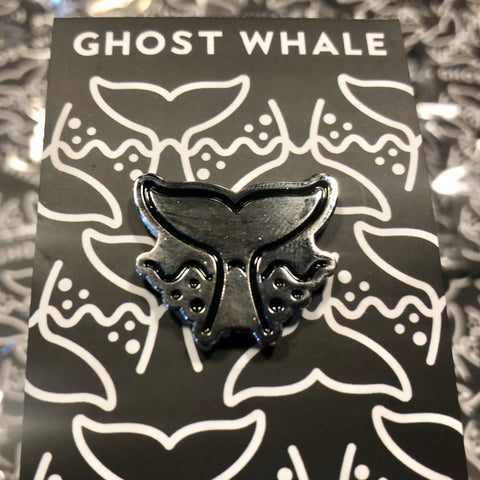 Ghost Whale Pin Badge