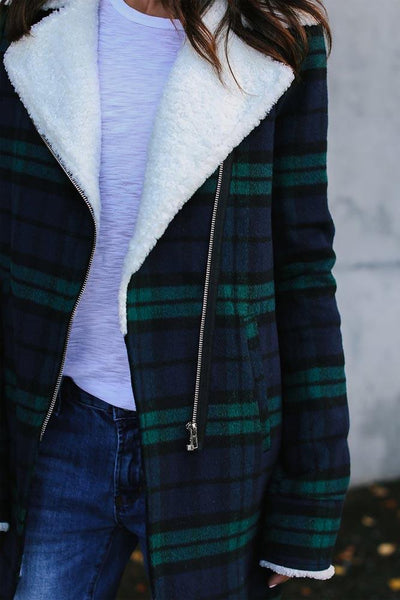 Long Sleeve Checkered Jacket
