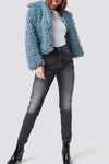 Shearling Crop Jacket