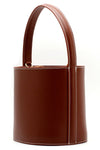 Cowhide Leather Bucket Bag