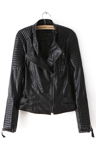 Leather Jacket with Buckles