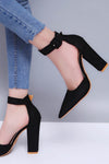Classic Ankle Strap Heeled Pumps