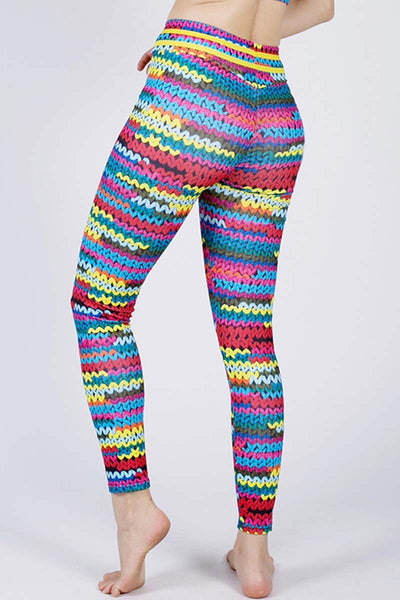 Knit Print Leggings